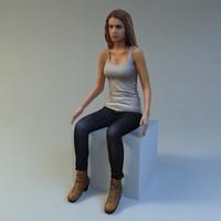 3dsmax woman scan