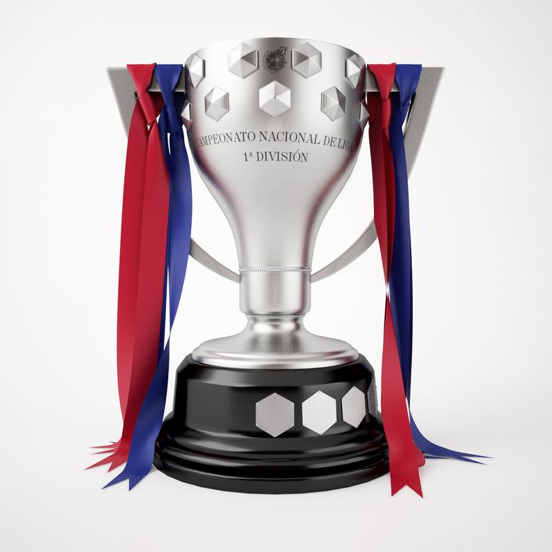 3d spain la liga trophy model