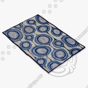 3d amara rug flat weave model