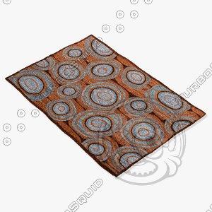 3d model amara rug flat weave