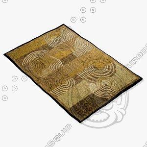 3d 3ds amara rug flat weave
