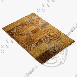 amara rug flat weave 3d max