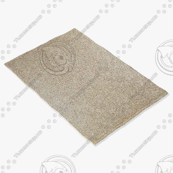 amara rug flat weave 3d model