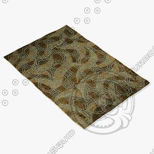 amara rug flat weave 3d obj