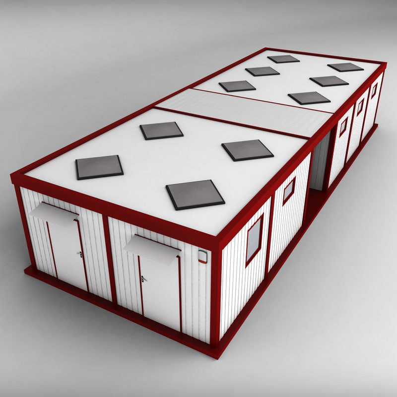 double container shipping house 3d model