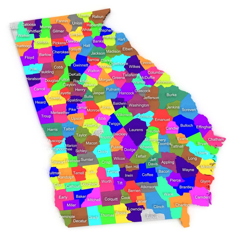 georgia counties 3d 3ds