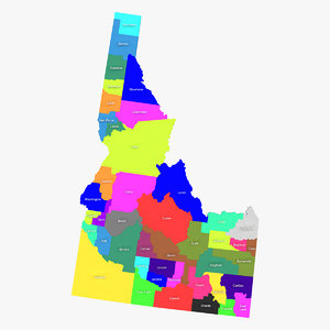 idaho counties 3ds