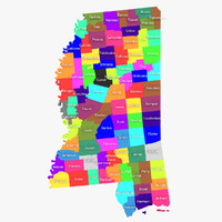 mississippi counties 3d max
