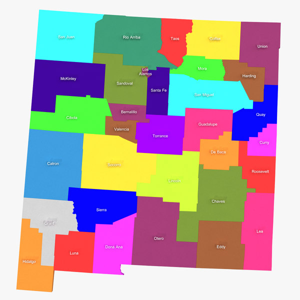 3d model new mexico counties