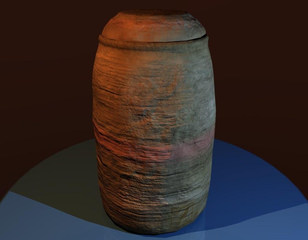 3d model breakable clay pot games