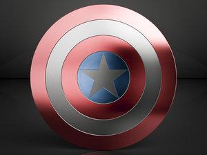 capitan america shield 3d model