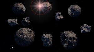 3d planet meteor model