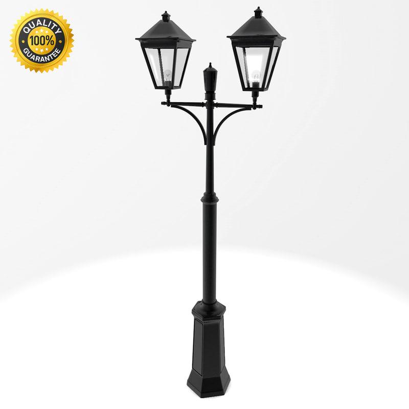 3d model classic london double lighting