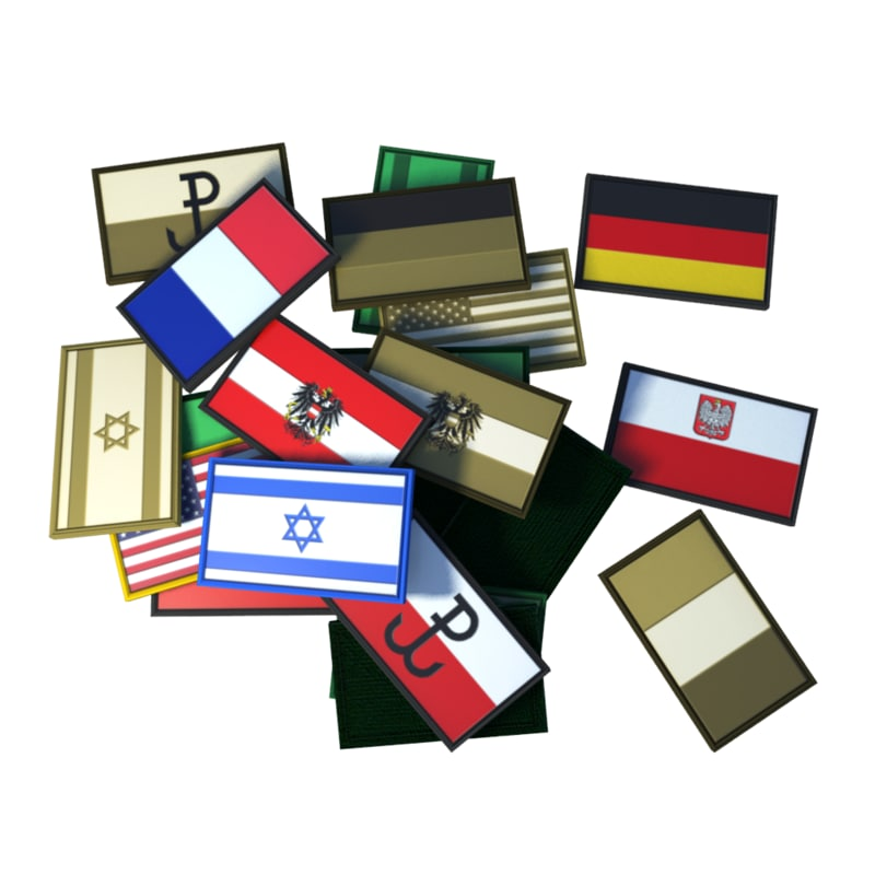 velcro flag patches 3d model