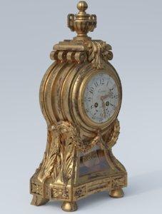 3d louis xvi clock model