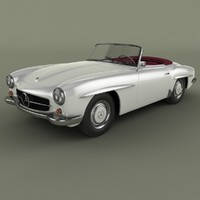 3ds max mercedes-benz 190 sl