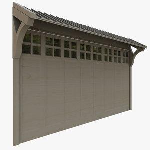 3d garage door model