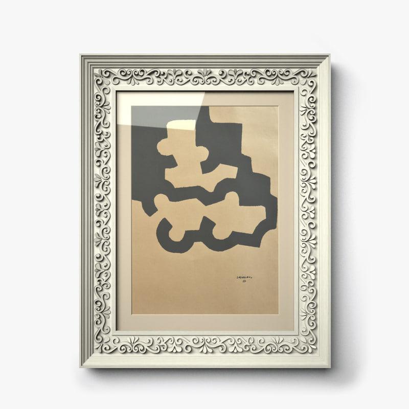 carved frame 3d c4d