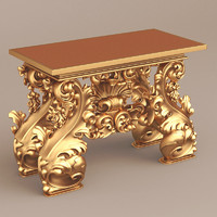 h m luther antique table 3d model