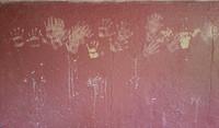 Wall handprints