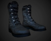 lowpoly military boots