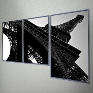 free tour eiffel poster 3d model