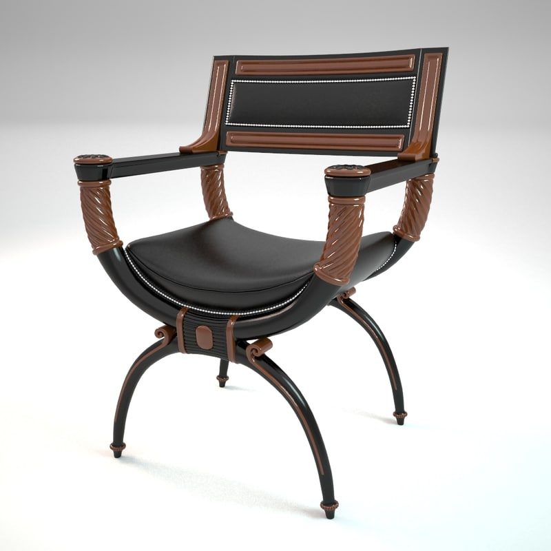 3d chair 332 chelini fipo model