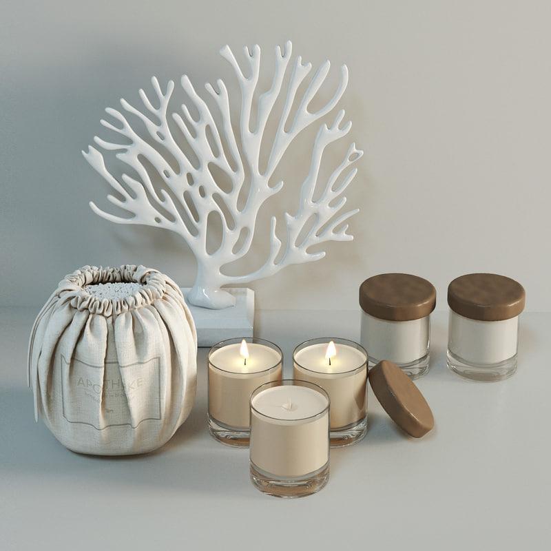 3d model decorative apotheke candles