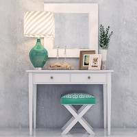 3d model vanity dressing table decorative