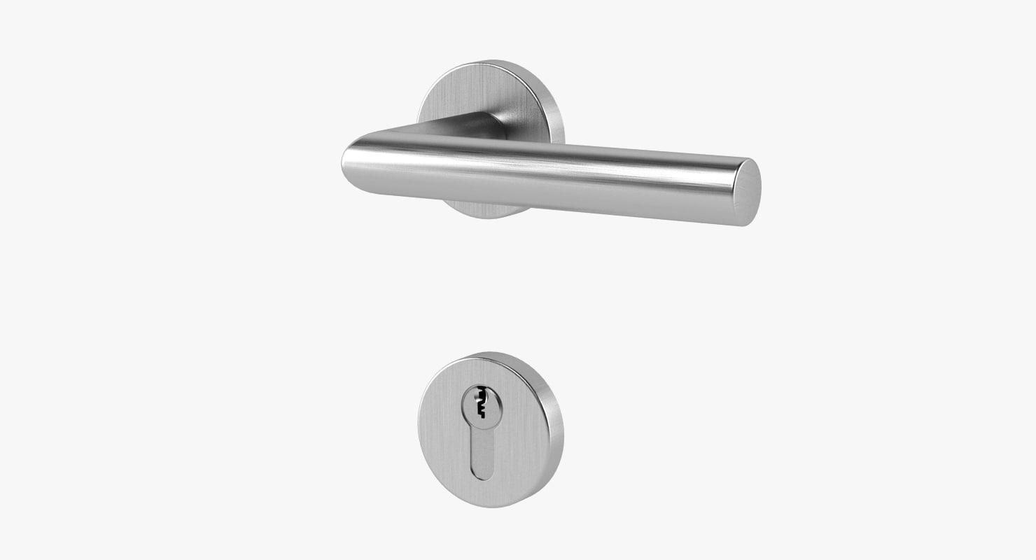 3d model door handle lock