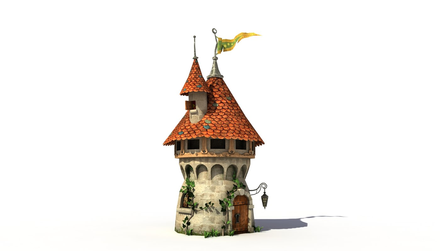 max fantasy medieval tower house