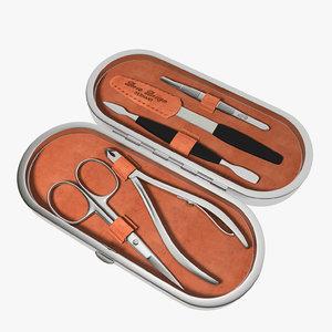 case scissors tongs tweezers 3d model