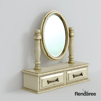 3ds max old battered mirror