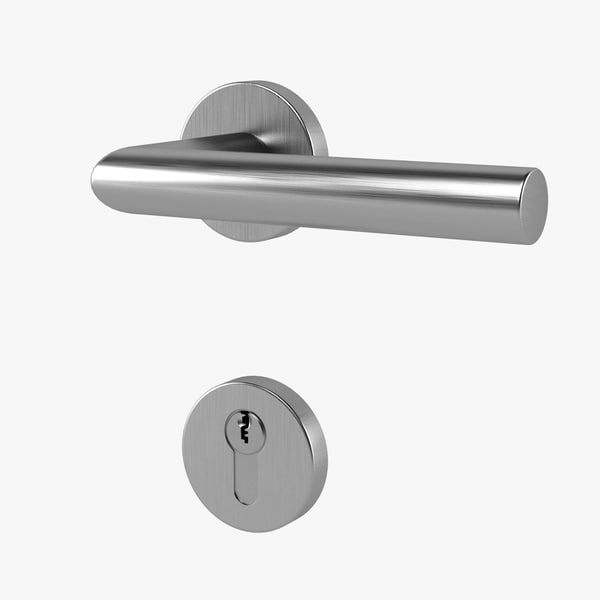 3d model door handle lock