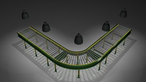 conveyor set 3d model