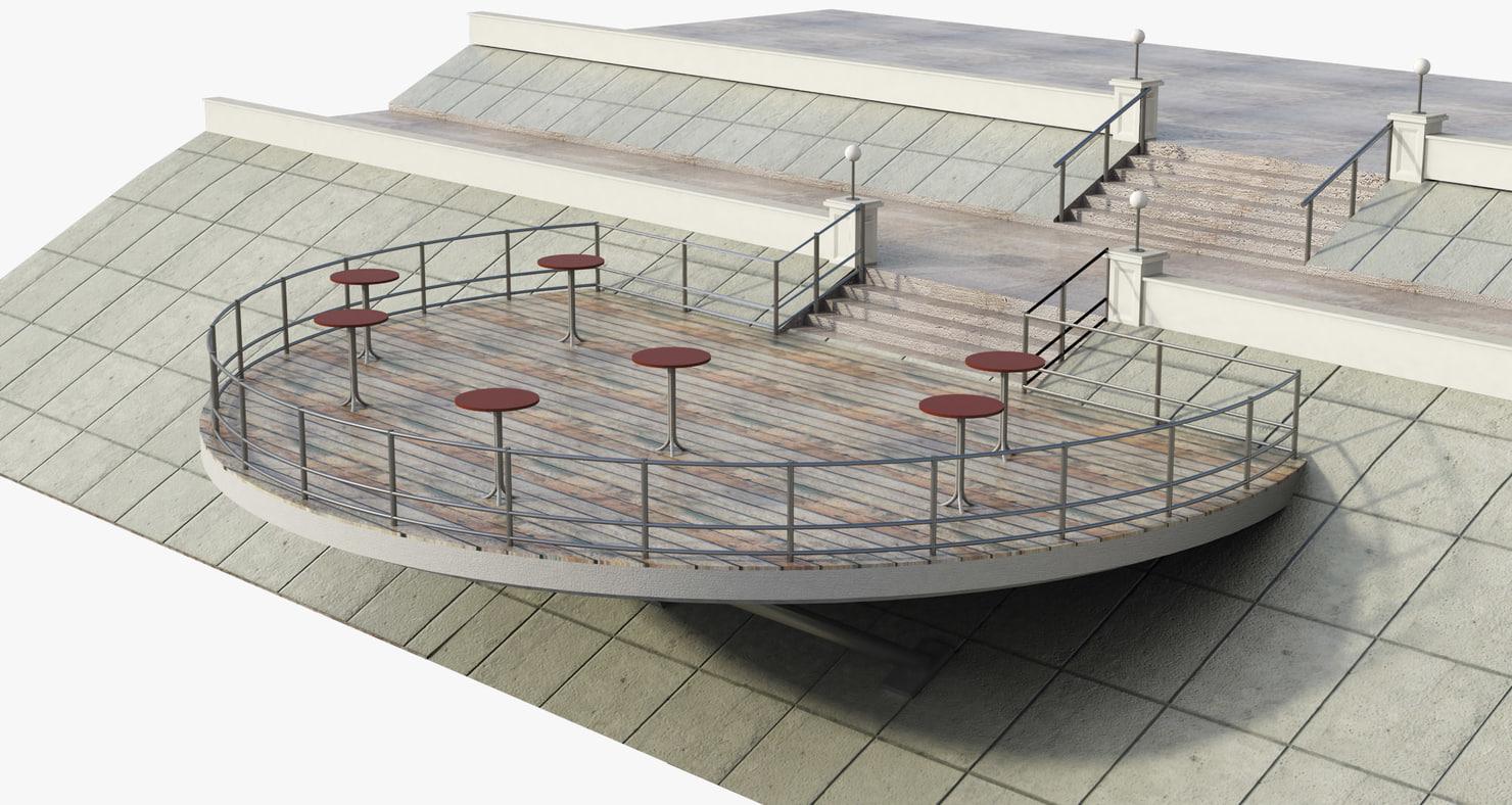 3d observation deck