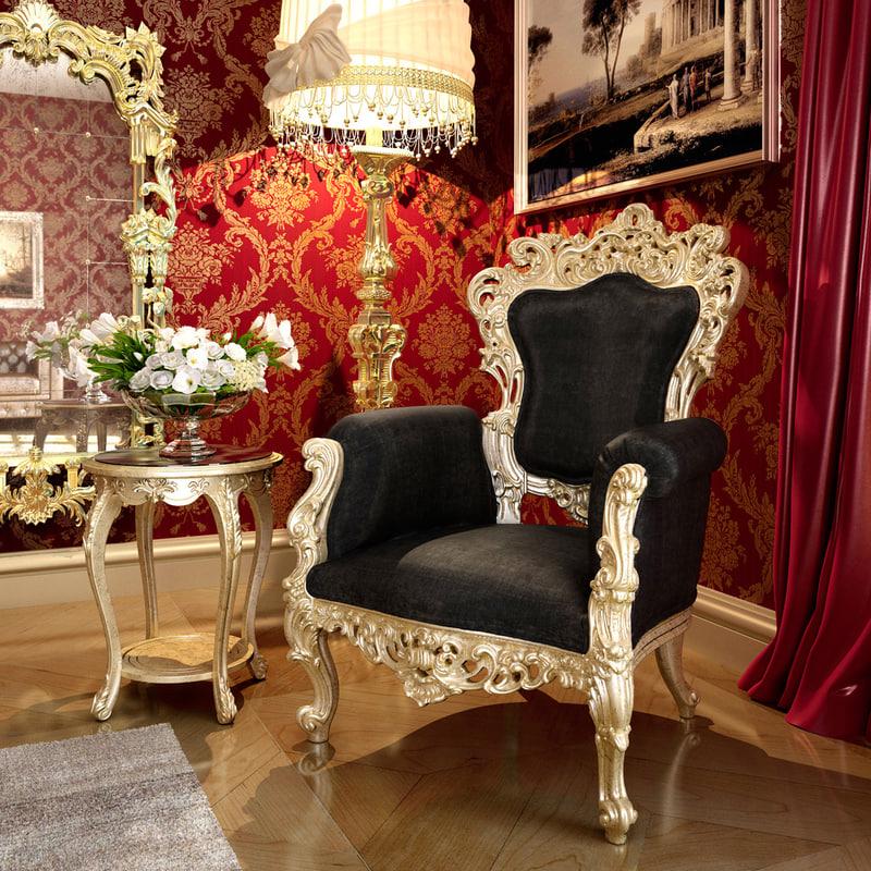3d armchair angelo cappellini