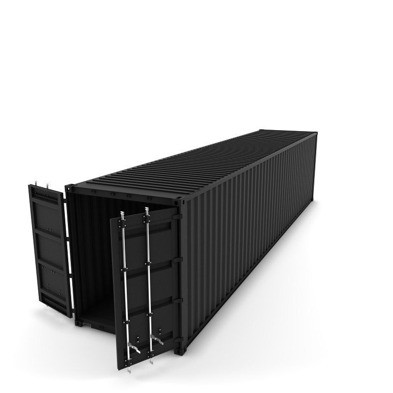 3d 40 cargo container model