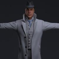 detective cloth zbrush 3d obj