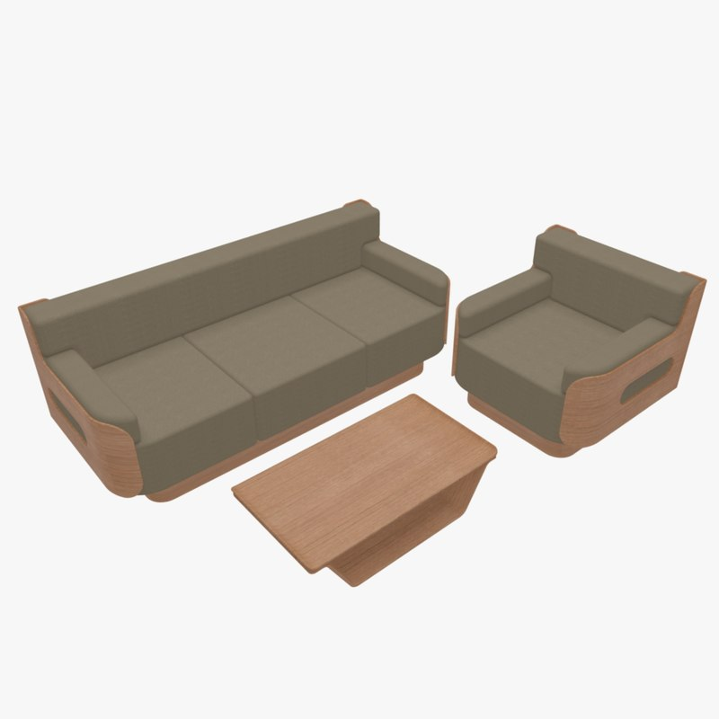 furniture home sofa armchair 3d model