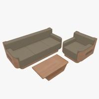 furniture home sofa armchair 3d model
