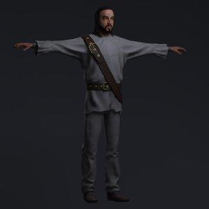 3d robinson pirate zbrush model