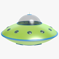 3d model cartoon flying saucer