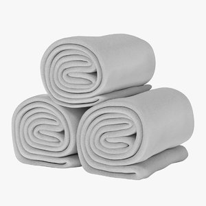 3d model towel rolls