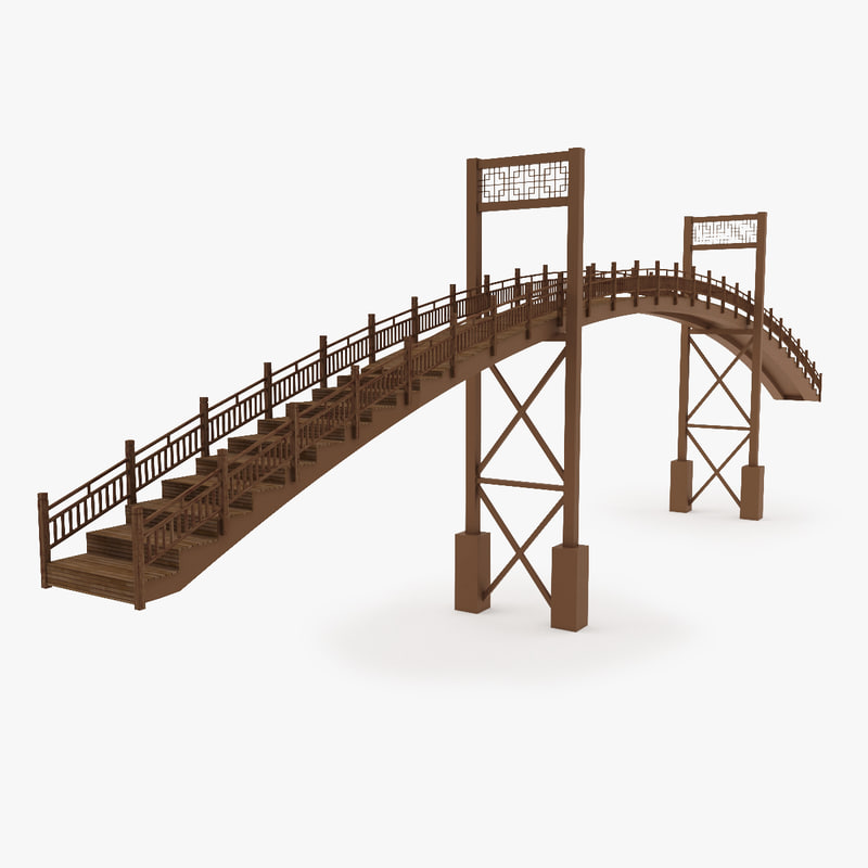 3ds max metal bridge