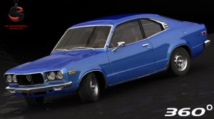 mazda rx-3 1973 3d max