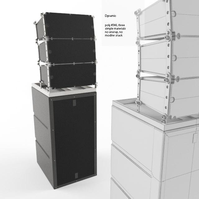 3d model concert speaker cab
