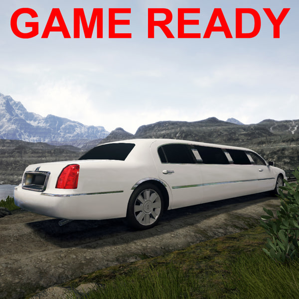 town car limo 3d max