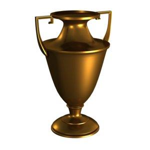 3ds max brass urn trophy