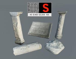 3d model scan antique stone